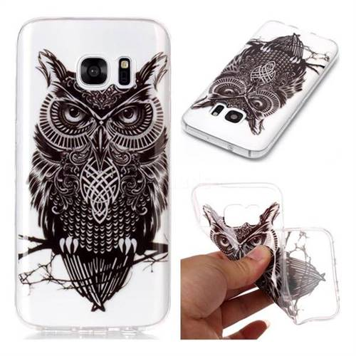Staring Owl Super Clear Soft TPU Back Cover for Samsung Galaxy S7 G930