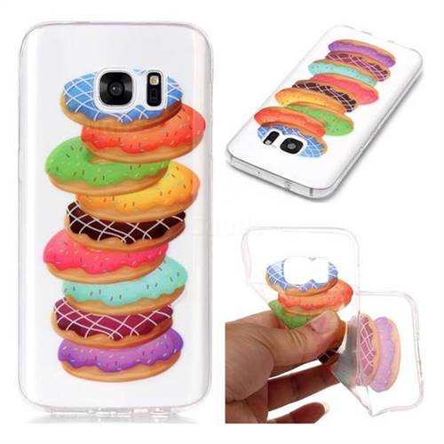 Melaleuca Donuts Super Clear Soft TPU Back Cover for Samsung Galaxy S7 G930