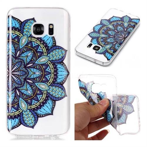 Peacock flower Super Clear Soft TPU Back Cover for Samsung Galaxy S7 G930