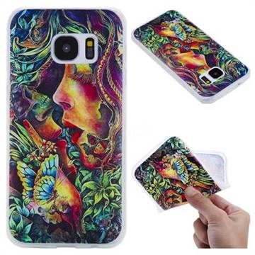 Butterfly Kiss 3D Relief Matte Soft TPU Back Cover for Samsung Galaxy S7 G930