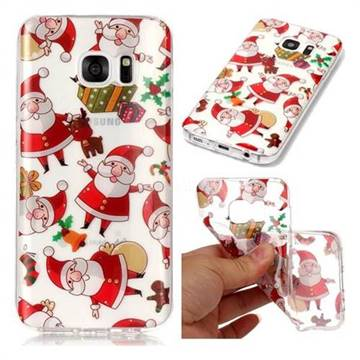 Santa Claus Super Clear Soft TPU Back Cover for Samsung Galaxy S7 G930