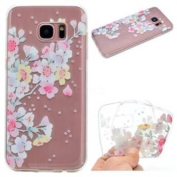 Peach Super Clear Soft TPU Back Cover for Samsung Galaxy S7 G930