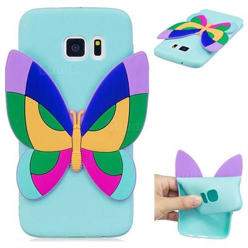 Rainbow Butterfly Soft 3D Silicone Case for Samsung Galaxy S7 G930