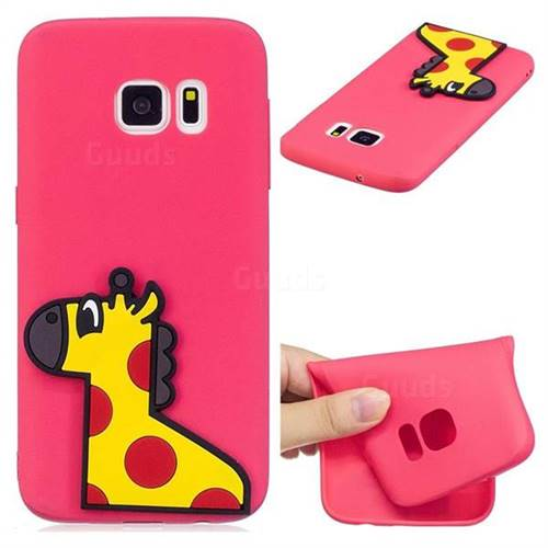Yellow Giraffe Soft 3D Silicone Case for Samsung Galaxy S7 G930