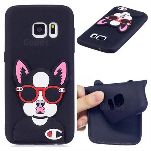 Glasses Gog Soft 3D Silicone Case for Samsung Galaxy S7 G930