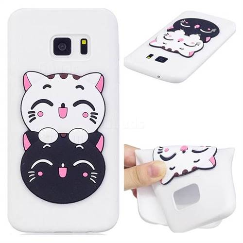 Couple Cats Soft 3D Silicone Case for Samsung Galaxy S7 G930