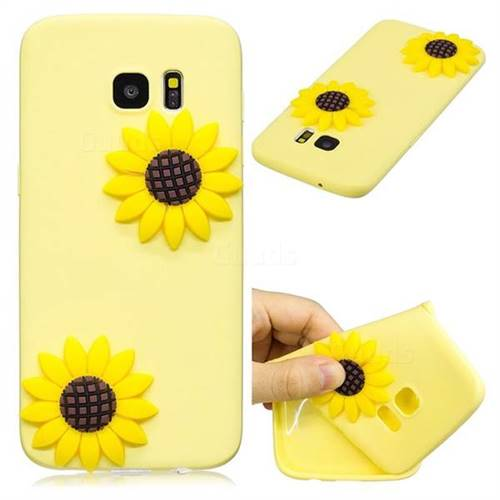 Yellow Sunflower Soft 3D Silicone Case for Samsung Galaxy S7 G930