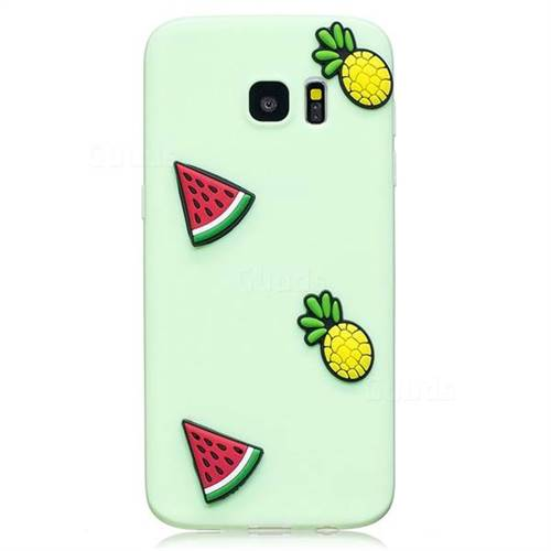 new concept 57673 60769 Watermelon Pineapple Soft 3D Silicone Case for Samsung Galaxy S7 G930