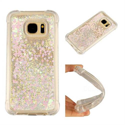 Dynamic Liquid Glitter Sand Quicksand Star TPU Case for Samsung Galaxy S7 G930 - Pink