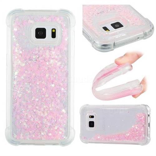 Dynamic Liquid Glitter Sand Quicksand TPU Case for Samsung Galaxy S7 G930 - Silver Powder Star