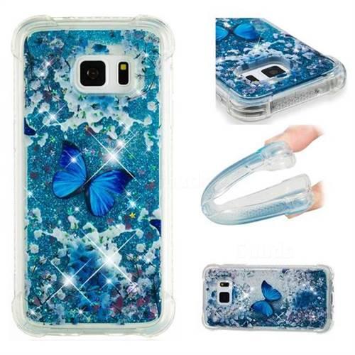 Flower Butterfly Dynamic Liquid Glitter Sand Quicksand Star TPU Case for Samsung Galaxy S7 G930
