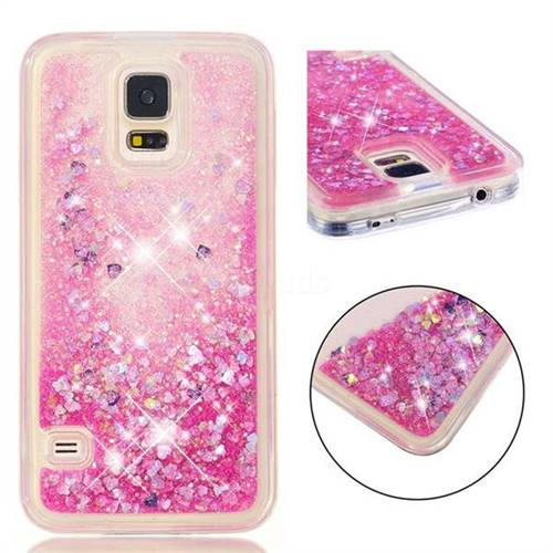 Dynamic Liquid Glitter Quicksand Sequins TPU Phone Case for Samsung Galaxy S7 G930 - Rose