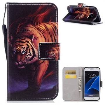 Mighty Tiger PU Leather Wallet Case for Samsung Galaxy S7 G930