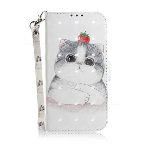 new product 8df31 f7d59 Cute Tomato Cat 3D Painted Leather Wallet Phone Case for Samsung Galaxy S7  G930