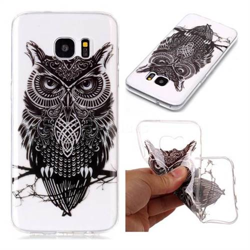Staring Owl Super Clear Soft TPU Back Cover for Samsung Galaxy S7 Edge s7edge