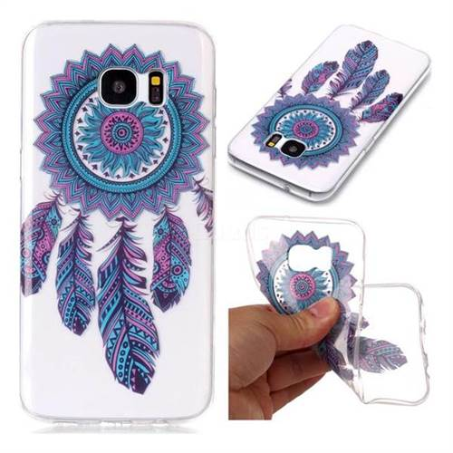 Blue Wind Chimes Super Clear Soft TPU Back Cover for Samsung Galaxy S7 Edge s7edge