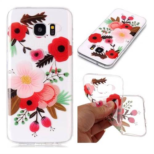 Painting Flowers Super Clear Soft TPU Back Cover for Samsung Galaxy S7 Edge s7edge
