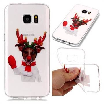 Red Gloves Elk Super Clear Soft TPU Back Cover for Samsung Galaxy S7 Edge s7edge