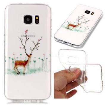 Branches Elk Super Clear Soft TPU Back Cover for Samsung Galaxy S7 Edge s7edge