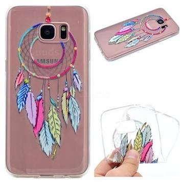 Rainbow Campanula Super Clear Soft TPU Back Cover for Samsung Galaxy S7 Edge s7edge