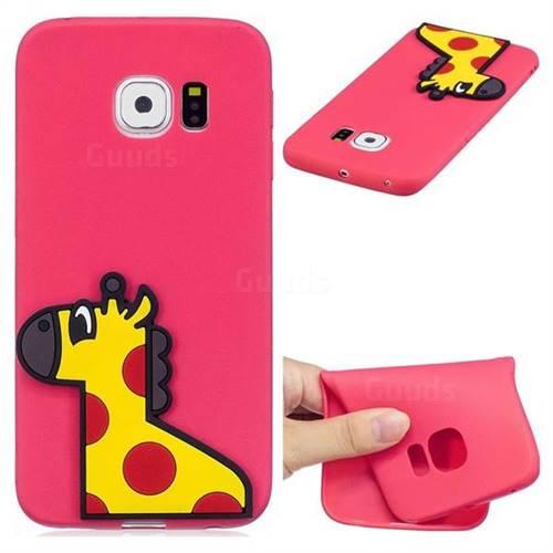 Yellow Giraffe Soft 3D Silicone Case for Samsung Galaxy S7 Edge s7edge