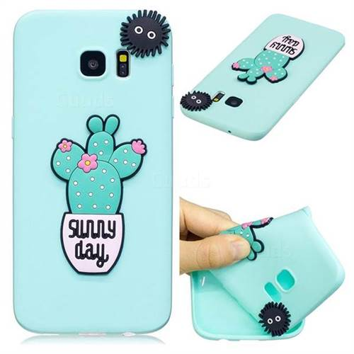 Cactus Flower Soft 3D Silicone Case for Samsung Galaxy S7 Edge s7edge