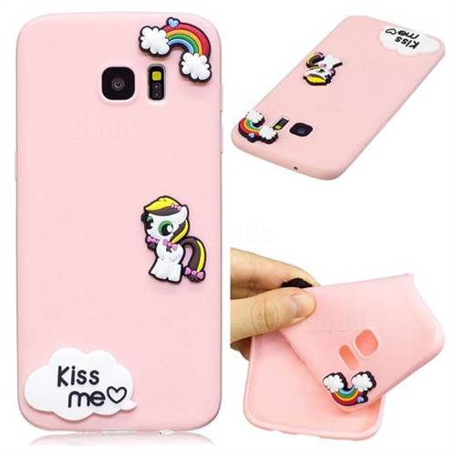 Kiss me Pony Soft 3D Silicone Case for Samsung Galaxy S7 Edge s7edge
