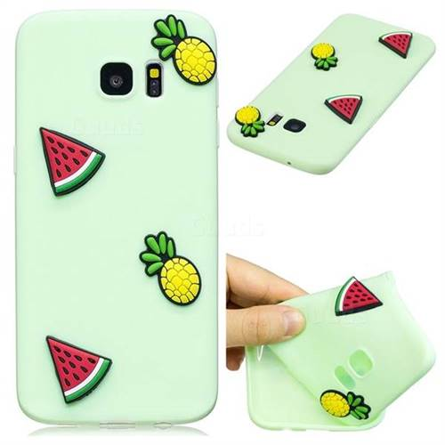 Watermelon Pineapple Soft 3D Silicone Case for Samsung Galaxy S7 Edge s7edge