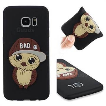 Bad Boy Owl Soft 3D Silicone Case for Samsung Galaxy S7 Edge s7edge - Black