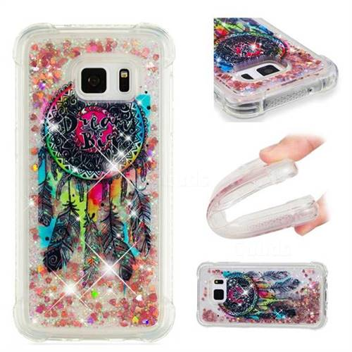 Seal Wind Chimes Dynamic Liquid Glitter Sand Quicksand Star TPU Case for Samsung Galaxy S7 Edge s7edge