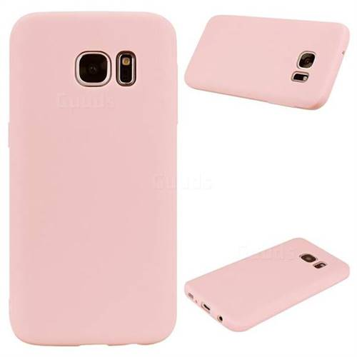 detailed look ca17c 4dcb3 Candy Soft Silicone Protective Phone Case for Samsung Galaxy S7 Edge s7edge  - Light Pink