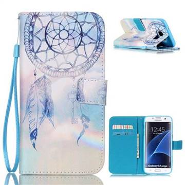 Fantasy Campanula Leather Wallet Case for Samsung Galaxy S7 Edge G935