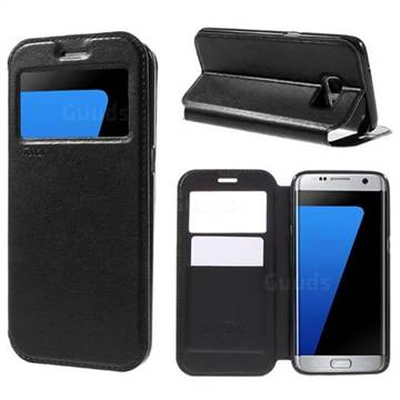 Roar Korea Noble View Leather Flip Cover for Samsung Galaxy S7 Edge G935 - Black