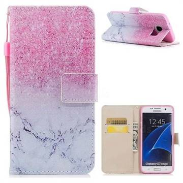 Marble Powder PU Leather Wallet Case for Samsung Galaxy S7 Edge s7edge