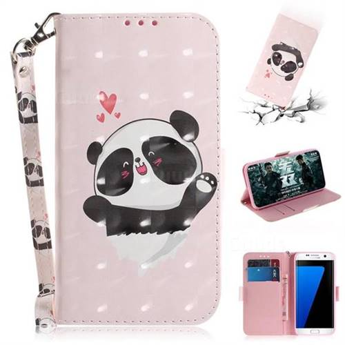 Heart Cat 3D Painted Leather Wallet Phone Case for Samsung Galaxy S7 Edge s7edge