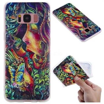 Butterfly Kiss 3D Relief Matte Soft TPU Back Cover for Samsung Galaxy S8