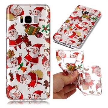 Santa Claus Super Clear Soft TPU Back Cover for Samsung Galaxy S8