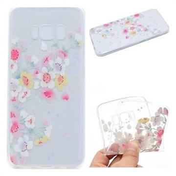 Peach Super Clear Soft TPU Back Cover for Samsung Galaxy S8