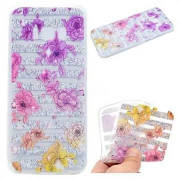 Striped Roses Super Clear Soft TPU Back Cover for Samsung Galaxy S8