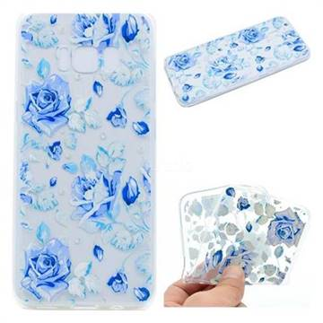 Ice Rose Super Clear Soft TPU Back Cover for Samsung Galaxy S8