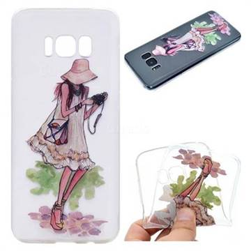 Travel Girl Super Clear Soft TPU Back Cover for Samsung Galaxy S8