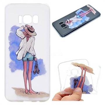 Beach Girl Super Clear Soft TPU Back Cover for Samsung Galaxy S8