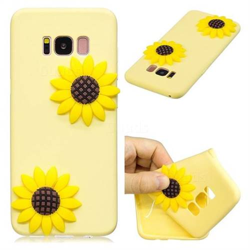 Yellow Sunflower Soft 3D Silicone Case for Samsung Galaxy S8