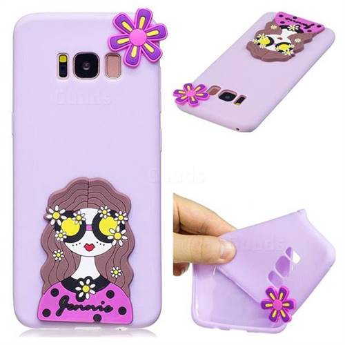Violet Girl Soft 3D Silicone Case for Samsung Galaxy S8