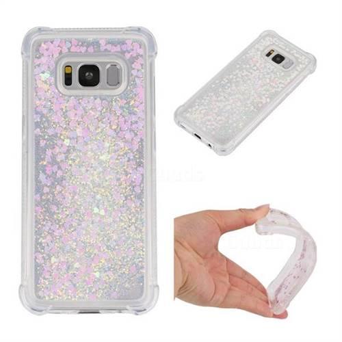 Dynamic Liquid Glitter Sand Quicksand Star TPU Case for Samsung Galaxy S8 - Pink