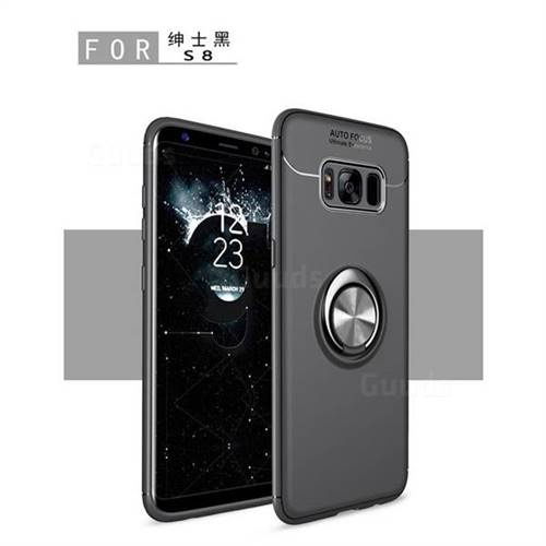 Auto Focus Invisible Ring Holder Soft Phone Case for Samsung Galaxy S8 - Black