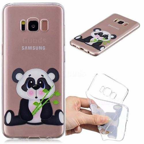 Bamboo Panda Clear Varnish Soft Phone Back Cover for Samsung Galaxy S8