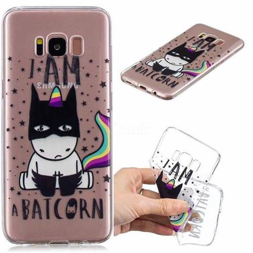 Batman Clear Varnish Soft Phone Back Cover for Samsung Galaxy S8