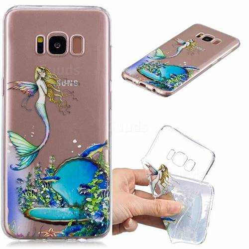 Mermaid Clear Varnish Soft Phone Back Cover for Samsung Galaxy S8