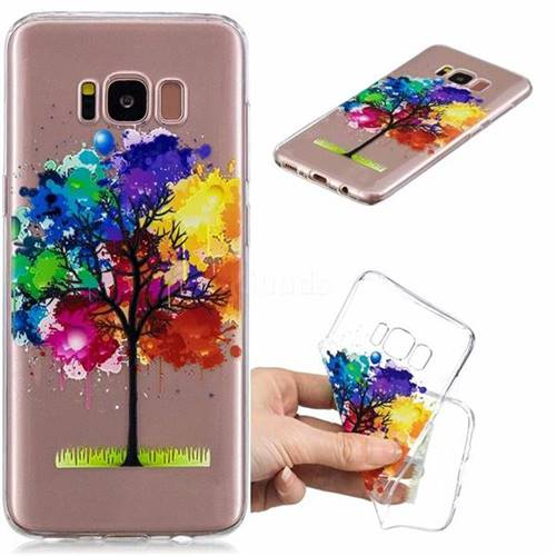 Oil Painting Tree Clear Varnish Soft Phone Back Cover for Samsung Galaxy S8